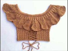 Fabulous Crochet a Little Black Crochet Dress Ideas. Georgeous Crochet a Little Black Crochet Dress Ideas. Motif Bikini Crochet, Crochet Crop Top, Crochet Blouse, Knit Crochet, Mode Crochet, Crochet Summer Tops, Black Crochet Dress, Crochet Woman, Top Pattern