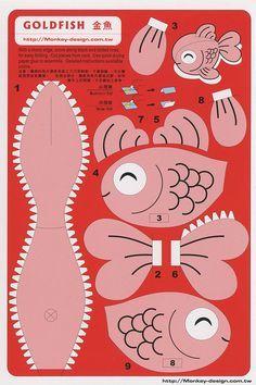 Goldfish - Cut Out Postcard