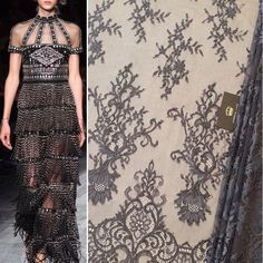 """Imperial Lace on Instagram: """"Greyish brown dark shade romantic chantilly lace fabric...NEW NEW NEW🔆  Clothe yourself in our laces! #chantilly #bestlace #greylace #lace…"""""""