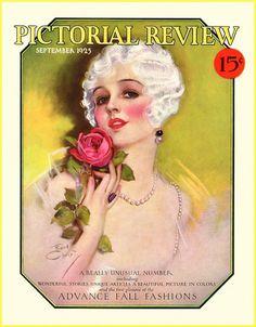 quenalbertini: 1925 Deco magazine cover by Earl Christy Old Magazines, Vintage Magazines, Vintage Postcards, Vintage Ephemera, Vintage Prints, Vintage Art, Vintage Ladies, Victorian Ladies, Vintage Pictures