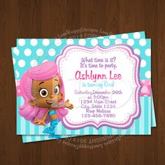 Bubble Guppies Invitation | Free Backside & Thank You Card [New Item ...