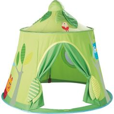 Haba Magic Forest Play Tent - This is so cute!! Love that it collapses for easy storage. #oompatoys #habausa