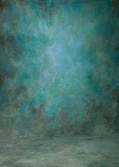 Shades of Blue and Green Abstract Texture Studio Backdrop GA-53