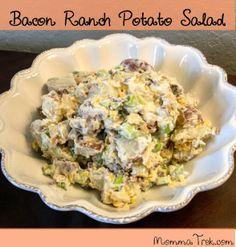 Easy Bacon Ranch Potato Salad - MommaTrek.com