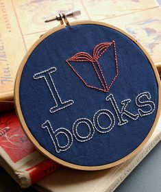 embroidery about books. my favorite.