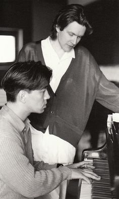 David Sylvian and Ryuichi Sakamoto (Secrets of the Beehive, 1987). I love it. One of the best music ever written. Beautifully recorded, too. That world does not exist anymore and will not come back.