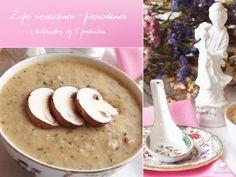 Zupa soczewicowo - pieczarkowa wg 5 przemian - Tradycyjna Medycyna Chińska | blog Cheeseburger Chowder, Tofu, Pudding, Desserts, Blog, Custard Pudding, Deserts, Blogging, Dessert