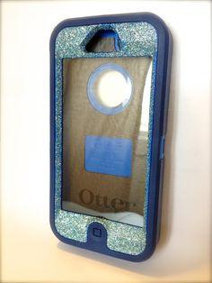 e697fa1c5992 Custom Glitter (BlueTopaz) Otterbox Defender Series Case for iPhone 5 with  swarovski crystals on Etsy