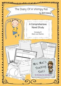 THE DIARY OF A WIMPY KID - By Jeff Kinney - A Comprehensiv Teaching Tools, Teaching Resources, Cover Pics, Cover Picture, Create A Comic, Jeff Kinney, Wimpy Kid, Study Design, Australian Curriculum