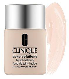 Clinique Acne Solutions Liquid Makeup $27..Dupe: E.l.f.: Acne Fighting Foundation $6