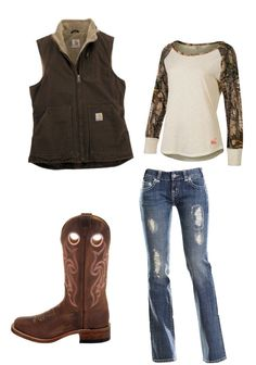 Cute country girl redneck cowgirl outfit camo cowboy boots carhartt adorable clothes