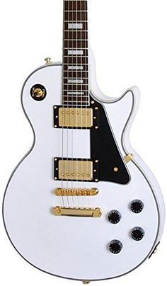 Epiphone-Les-Paul-Custom-Pro-Electric-Guitar-with-ProBuckers-and-Coil-Tapping-0 #gibsonlespaul