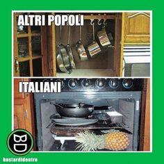 E voi dove tenete le #padelle ? #bastardidentro #italiani #ipnoticamentebastardidentro www.bastardidentro.it