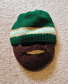Knit Beard Hat Pattern
