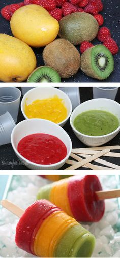 Fresh fruit puree, popsicle sticks, and mini plastic cups! Such a great alternative to the sugar filled store bought pops! Of course, the riper the fruit, the sweeter your fruit pops will be. So choose the ripest fruit you can find.