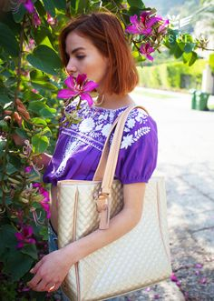 Natural Beauty  |  Consuela Candy Crush Champagne Classic Tote