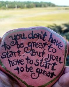 """157 Likes, 5 Comments - The Kindness Rocks Project (@thekindnessrocksproject) on Instagram: """"...You have to start to be great! #joinus #bekindtooneanother #makeadifference #bethechange…"""""""