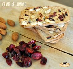 Holiday snack tip: Add a wheel of brie to your shopping list, bake it, and use your Cranberry Almond THINs for dipping.