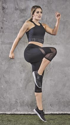 Whitney Simmons styling the Sleek Sculpture Cropped leggings in black. Back and better than ever before.
