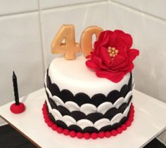 Mini fondant 40th Birthday Cake!