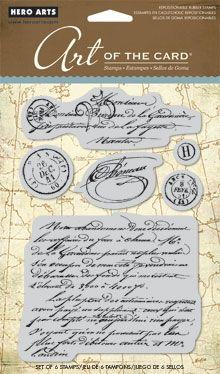 Hero Arts печати Френско писмо от 19-ти век