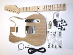 DIY Electric Guitar Kit - Ash Tele Build Your Own Guitar
