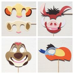 Lion King Inspired Photo Props ; Lion Birthday Party ; Lion Photo Booth Props…