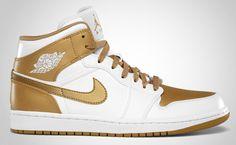 Air Jordan 1 Phat White/Metallic Gold