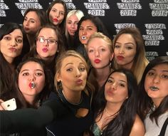 I LOVED meeting you ladies today. What creative lips! The Mexican flag an evil eye a disco ball... I failed the contest.  Thank you again for coming out to meet me!!! XX by blakelively