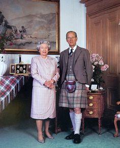 H.M. Queen Elizabeth II and H.R.H. Prince Philip, Duke of Edinburgh shown at…
