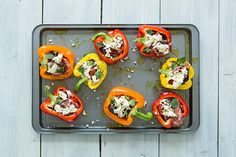 Easy how to recipe for Mediterranean Baked Peppers, to prepare at home or whilst on holiday.