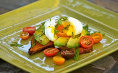 "Sweet Potato, Avocado and Egg ""Toast""   http://www.mamasonamission.org/avocado-sweet-potato-toast/"