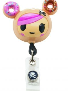 Retractable Badge Reel (Donutella)  Product ID : A100-TDDT
