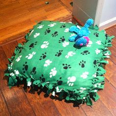Home made bed. Ok Reilly- when you destroy the one you have now, this is what you are getting next