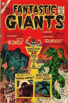 Fantastic Giants. Steve Ditko. Gorgo. Konga
