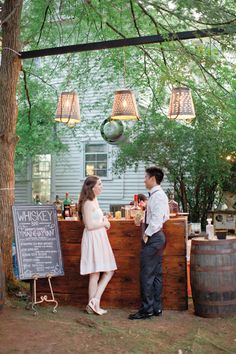 outdoor bar | Harwell Photography #wedding