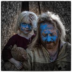 Blue Face Paint Celts