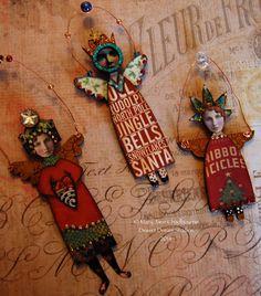 Teeny tiny angels! By MJ Chadbourne/Desert Dream Studios 2014