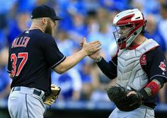 The Indians secured home-field advantage on Sunday by beating Kansas City and getting some help from the Toronto Blue Jays and Atlanta Braves.