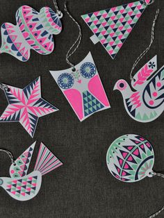 Banquet Atelier & Workshop — Letterpress Ornament/ Gift Tags for the holidays
