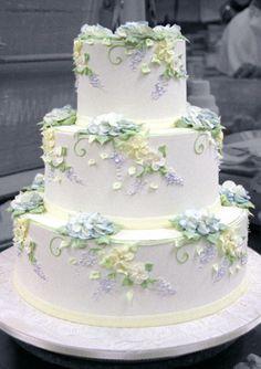 Wedding Cake Gallery — Three Tarts Bakery and Cafe Amazing Wedding Cakes, White Wedding Cakes, Elegant Wedding Cakes, Wedding Cake Designs, Wedding Cake Toppers, Elegant Cakes, Purple Wedding, Gold Wedding, Amazing Cakes