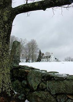 """Meetinghouse in Winter"", Canterbury Shaker Village, NH - Peter Lemiska"