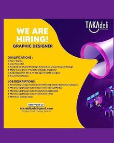 Lowongan Kerja Batam TAKAdeli Cake Boutique (8/12/2020) We Are Hiring, Batam, Photoshop, Graphic Design, Boutique, Cake, Kuchen, Torte, Cookies