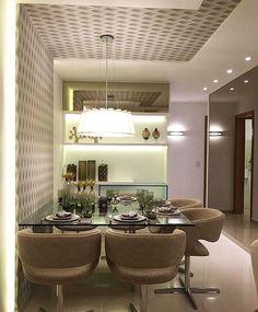 Hello people! Seguindo com os pedidos de vocês hoje nossa decor da noite é essa Sala de Jantar compacta e super moderna. E aí gostaram? Projeto: Autor Desconhecido.