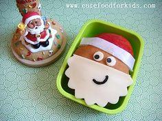 Santa! Genius tip too to put wax paper between the apple and the bun.