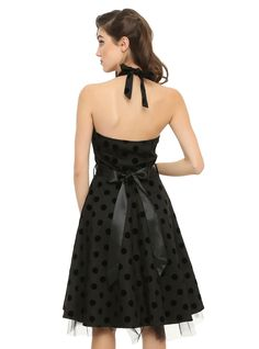 Black Polka Dot Swing Dress | Hot Topic
