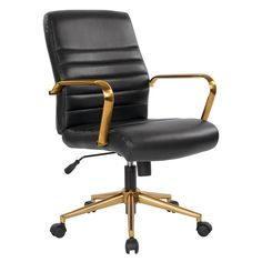 DJ/·Wang Home Office Casua Side Chair Black Rolling Metal Base Centiar Counter Height Barstool Dining Chair Faux Leather Bucket Seat Task Chair Antique Brown