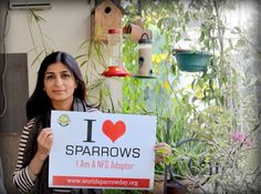Nin Taneja loves sparrows and she is doing her bit for conserving them by adopting feeders and nest box.