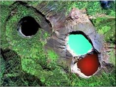 Lakes of evil spirits, MOUNT-Kelimutu, Flores island-Indonesia  changes randomly between black, blue, green, red & pink