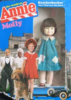 Fashion Doll: Little Orphan Annie MOLLY DOLL 6 Figure The World of Annie 1982 Knickerbocker ** Read more reviews of the product by visiting the link on the image.